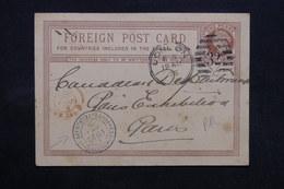 ROYAUME UNI - Entier Postal De Londres Pour Paris En 1878 , Cachet D 'arrivé De Paris Exposition Universelle - L 32843 - Stamped Stationery, Airletters & Aerogrammes