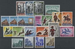 SAN MARINO - 1961 - Annata Completa - 21 Valori - Year Complete ** MNH/VF (No Posta Aerea) - Años Completos