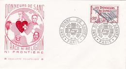 France - Enveloppe Philatélique Sur Les Donneurs De Sang - Timbre N° 1220 - Croix-Rouge