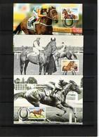 Australia 2002 Horse Races Set Of 5 Maximumcards - Reitsport
