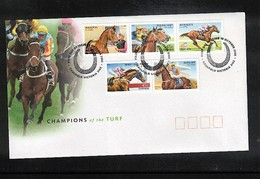 Australia 2002 Horse Races FDC - Reitsport