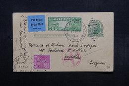 ETATS UNIS - Entier Postal + Compléments De New York Pour La Belgique En 1941 Avec Contrôle Postal - L 32847 - 1941-60