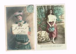 Lot De 8 Cartes.Femmes. - Women