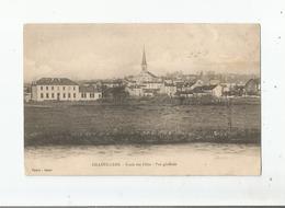 AILLEVILLERS ET LYAUMONT  (HAUTE SAONE) ECOLE DES FILLES VUE GENERALE PANORAMIQUE AVEC EGLISE - Francia