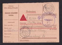 Germany / Occupied Bohemia: Reimbursement Form Postcard, 1939, Cancel Komotau (now Chomutov) (minor Damage, See Scan) - Occupation 1938-45