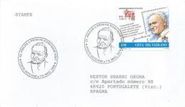Vatican 1999 Pope John Paul II Visit To Romania Special Handstamp Cover - Papi