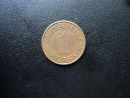 ALLEMAGNE : 1 REICHSPFENNIG  1924 A    KM 37    SUP - 1 Rentenpfennig & 1 Reichspfennig