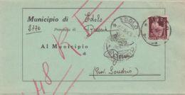 1946 DEMOCRATICA Lire 2 (552) Isol. Su Piego Edolo (12.6 Re Di Maggio) - 5. 1944-46 Luogotenenza & Umberto II