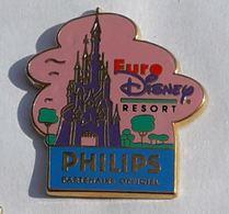 BD378 Pin's DISNEY EURODISNEY RESORT PHILIPS Signé Arthus Bertrand Achat Immédiat - Disney