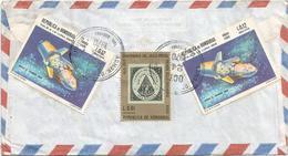 Honduras 1970 Tala Estefeta Apollo 11 Lunar Excursion Model Launch Stamps On Stamps Cover - Brieven & Documenten
