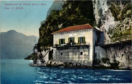 Italy, Lago Di Garda, Restaurant Al Ponale Presso Riva, Old Postcard - Italia