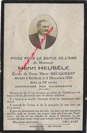 1916-Bailleul (59) Photo Henri HEUSELE ép Marie BACQUAERT - Décès