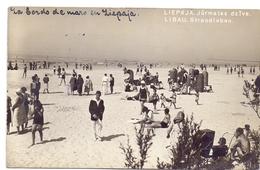 CP - Carte En Esperanto - Liepaja Jurmalas Dzive - Libau Strandleben - Verstuurd Naar Oostende 1931 - Latvia