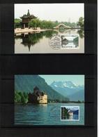 Switzerland / Schweiz 1998 Joint Issue Switzerland - China Maximumcards - Gemeinschaftsausgaben