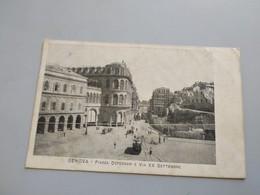 CARTOLINA GENOVA -  PIAZZA DE FERRARI E VIA XX SETTEMBRE - Genova (Genoa)