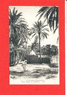 PAYSAGES SAHARIENS Cpa Animée Dans L ' Oasis Un Marabout    531 ND - Sahara Occidental