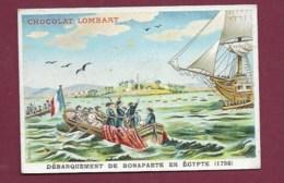 250619 - CHROMO CHOCOLAT LOMBART -  Débarquement De Bonaparte En égypte 1798 - Lombart