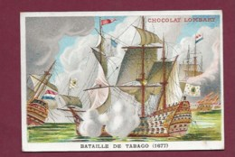 250619 - CHROMO CHOCOLAT LOMBART - Bataille De Tabago 1677 - Lombart