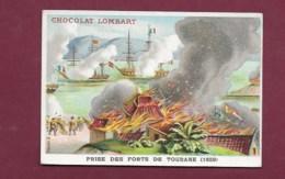 250619 - CHROMO CHOCOLAT LOMBART -Prise Des Forts De Tourane 1859 - Lombart