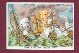 250619 - CHROMO CHOCOLAT LOMBART -  Combat Du Cap Lézard 1707 - Lombart