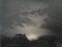 Peinture Sur Carton - Je Ne Connais Pas Le Procédé -  Reflets Du Soleil Sur Le Lac De Lugano Par Paul Grosjean Verviers - Autres Collections
