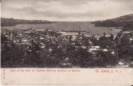 SAINTE LUCIE -- SAINT LUCIA -- Part Of The Town Of Castries Showing Entrance Of Harbour Vers 1910 - Sainte-Lucie