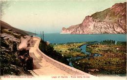 Italy, Lago Di Garda, Foce Della Sarca, Railway Scene, Locomotive Train, Old Postcard - Other