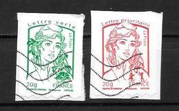 2013 - 862 à 863 Oblitéré - Marianne De Ciappa - France