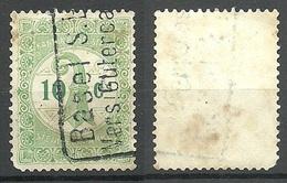 SCHWEIZ Switzerland Canton Basel Stadt Stempelmarke 10 C. O - Revenue Stamps