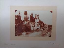 Photographie Ancienne - Guerre De 1870 , ROCROI Rue De Montmorency Janvier 1871 - Ruines - Fotos
