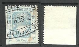 SCHWEIZ Switzerland Canton Fribourg Fiscalmarke 10 Cent Timbre De Comerce O - Revenue Stamps