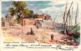 Egypt, Esneh Village, Upper Egypt, 1900, Old Postcard - Egypt