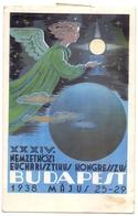 PK - Carte En Esperanto - Hongrie Hongarije - Congres Budapest 1938 - Verstuurd Naar Oostende - Evénements