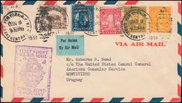 Erstflug FIRST FLIGHT U.S. AIR MAIL CANAL ZONE - URUGUAY, NEW YORK 9.1.1030  - Ohne Zuordnung