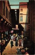 Egypt, Cairo, The Leather Bazaar, Old Postcard - Cairo