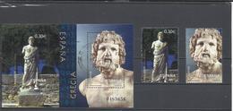 España. 2007. Arqueología Mediterránea. HB + 2 Sellos Hoja. - 2001-10 Usados