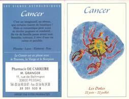 Calendrier °° 2004 - Pharma 33 Granger - Astro Cancer - 7x10 - Calendriers