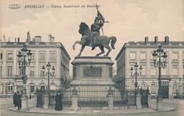 CPA - Belgique - Brussels - Bruxelles - Statue Godefroid De Bouillon - Monuments, édifices