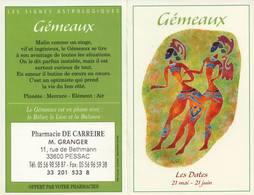 Calendrier °° 2004 - Pharma 33 Granger - Astro Gémeaux - 7x10 - Calendriers