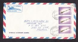 Zimbabwe: Airmail Cover To Netherlands, 1990, 3 Stamps, Speakers Mace, Parliament, Democracy (damaged) - Zimbabwe (1980-...)