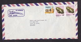 Zimbabwe: Airmail Cover To Netherlands, 1988, 3 Stamps, Art, Heritage, National Gallery, Cattle, Cow (traces Of Use) - Zimbabwe (1980-...)