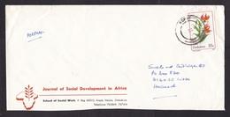 Zimbabwe: Airmail Cover To Netherlands, 1989, 1 Stamp, Wild Flower, Cancel Kopje (minor Damage) - Zimbabwe (1980-...)