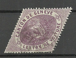 SCHWEIZ Switzerland Ca 1865 Canton De Geneve Lettre De Voiture O - Officials