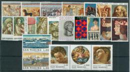 San Marino 1975 Annata Completa/Complete Year MNH/** - San Marino