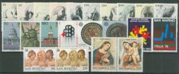 San Marino 1976 Annata Completa/Complete Year MNH/** - San Marino