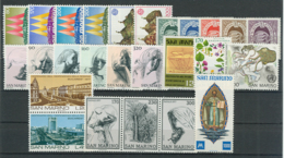 San Marino 1977 Annata Completa/Complete Year MNH/** - San Marino