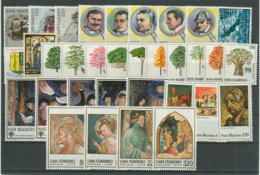 San Marino 1979 Annata Completa/Complete Year MNH/** - Annate Complete