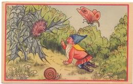 PK - Carte En Esperanto - Kabouter Illustr Marja De Ruyter  -  Verstuurd Naar Oostende 1948 - Contes, Fables & Légendes