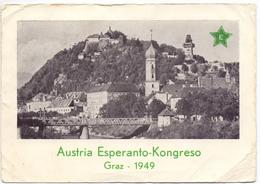 PK - Carte En Esperanto - Graz - Austria Esperanto Kongreso 1949 - Verstuurd Naar Oostende - Esperanto