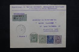 NOUVELLE CALÉDONIE - Enveloppe En Recommandé De Nouméa Pour Paris En 1925 , Affranchissement Plaisant - L 32867 - Briefe U. Dokumente